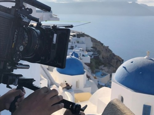 Filming in Greece